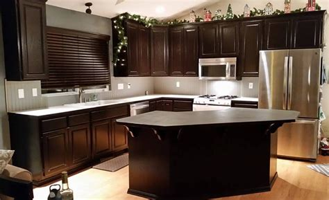 Kitchen Makeover In Java Gel Stain  General Finishes