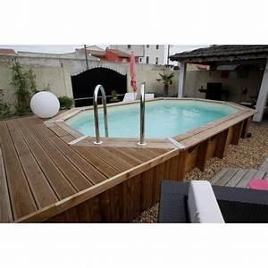 Liner Piscine Octogonale : ubbink piscine octogonale en bois oc a 355x550xh120 cm ~ Melissatoandfro.com Idées de Décoration