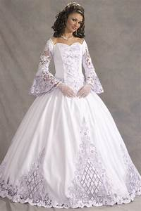 Victorian long sleeve wedding dresses for Plus size victorian wedding dresses