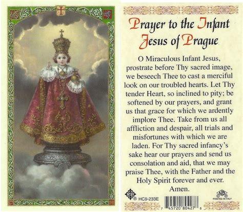 Prayer To The Infant Jesus Of Prague Laminated Prayer Card