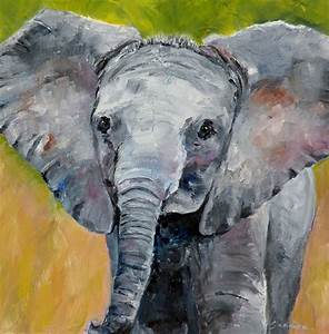 "ART FOR LIFE: ""Baby Elephant"" original oil elephant ..."