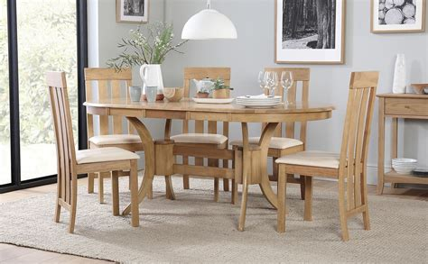 townhouse oval oak extending dining table   chester