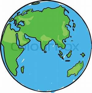 Globe Terrestre Carton : cartoon earth globe with eurasia africa and australia stock vector colourbox ~ Teatrodelosmanantiales.com Idées de Décoration