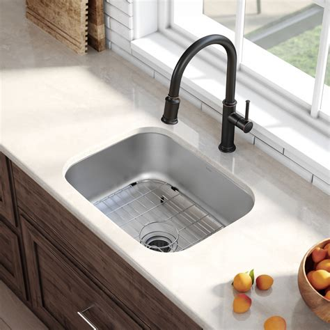 Stainless Undermount Kitchen Sink by Stainless Steel Kitchen Sinks Kraususa