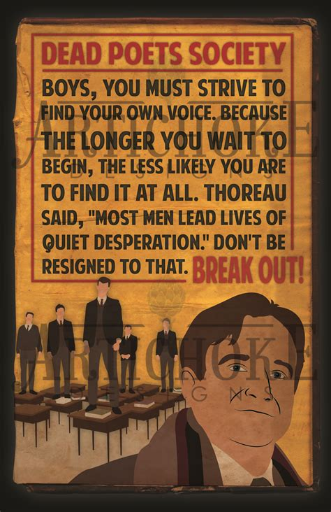 dead poets society inspired  poster  fan art