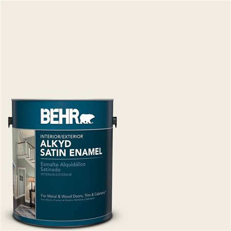 Color review of swiss coffee 12 by behr white paint color for bedroom walls satin enamel interior paint swiss coffee 12 behr paint colors painting with behr swiss coffee life. BEHR 1 gal. #YL-W5 Swiss Coffee Satin Enamel Alkyd Interior/Exterior Paint-790001 - The Home Depot