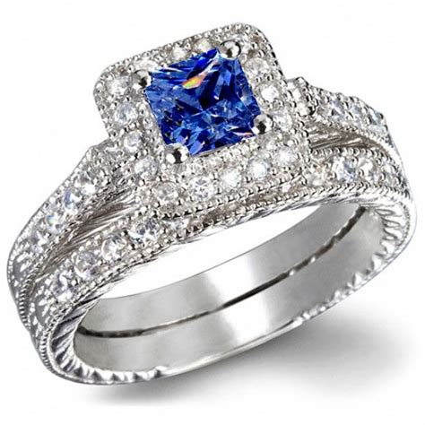 blue sapphire wedding ring sets wedding sets wedding sets with sapphire accents