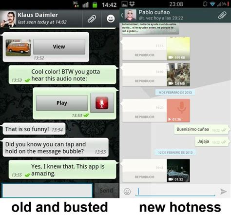 whatsapp messenger with new holo ui update arrives play store gizcrunch