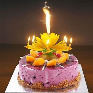 Musical Birthday Candle Party Decoration Lotus Flower ...