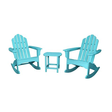 adirondack table and chairs hanover 3 piece adirondack rocking chair set with 2