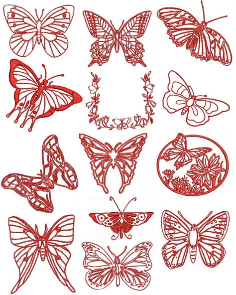 embroidery designs free redwork butterfly machine embroidery designs free font