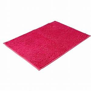 tapis salle de bain chenille rose chez gifi shopandbuyfr With tapis salle de bain gifi