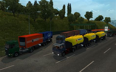 Cargo And Traffic Double Triple Trailers For Ets2 V128