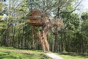 Constructeur Cabane Dans Les Arbres : cabane au pont suspendu nidperch constructeur de cabane ~ Dallasstarsshop.com Idées de Décoration