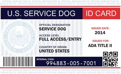 id card examples service dog vest  id card kits