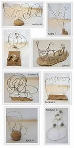 The New Hope Art Gallery  Middle School Art  Wire Drawings