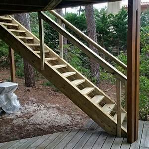 Escalier D Extérieur : escalier exterieur en bois artisan charpente menuiserie ~ Preciouscoupons.com Idées de Décoration