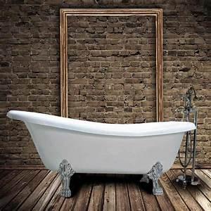 Baignoire Patte De Lion : baignoire ancienne en fonte livingston blanche le monde ~ Melissatoandfro.com Idées de Décoration
