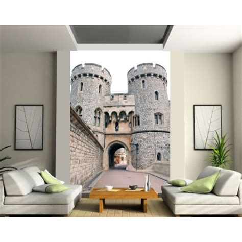 papier peint grande largeur chateau art d 233 co stickers