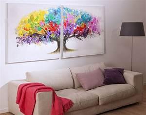 double tableau arbre multicolore becquet With chambre bébé design avec livraison fleurs valenciennes