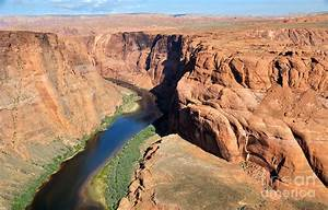 Desert Canyon Bend In The Colorado River Photograph by