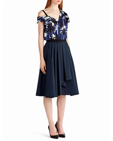 drape front skirt jason wu pleated a line drape front skirt navy modesens