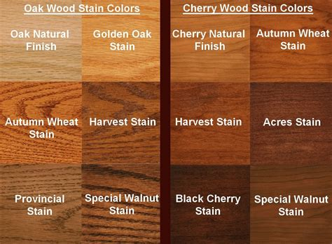 oak stain colors oak color your choice of the following wood species and