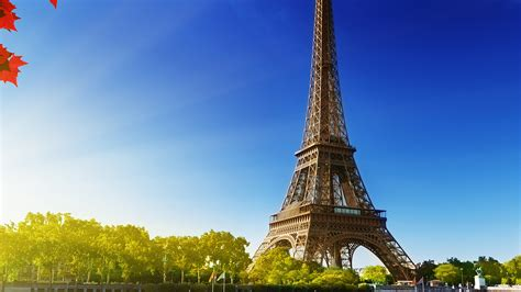 na sky blue eiffel tower nature paris city wallpaper