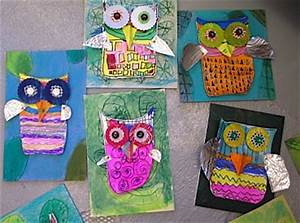 Mixed Media Owl Art - Things to Make and Do, Crafts and ...
