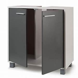 Meuble Salle De Bain Sous Lavabo : meuble sous lavabo gris pour vasque de salle de bain meubles et am ~ Teatrodelosmanantiales.com Idées de Décoration