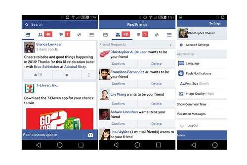 linha de baixar nova versão do facebook