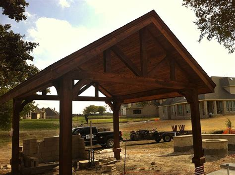 free standing patio cover large free standing patio cover with large beams in