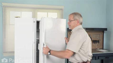 refrigerator repair replacing  door closing cam ge part wrx youtube