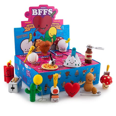 blind box toys bffs hurts 3 inch blind box series plastic and plush