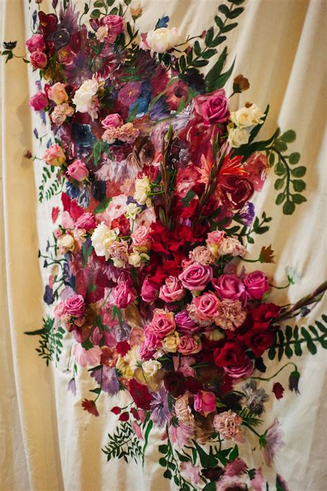 dutch flower painting wedding
