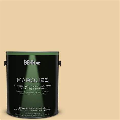 behr marquee 1 gal m300 3 harmonious gold gloss enamel exterior paint 545401 the home depot