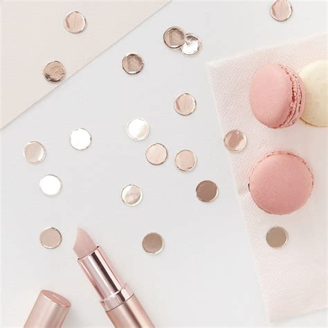 rose gold table l rose gold table confetti rose gold hen accessories