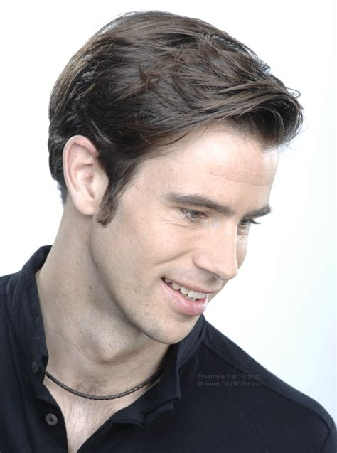 short  clean hairstyle  men square sides