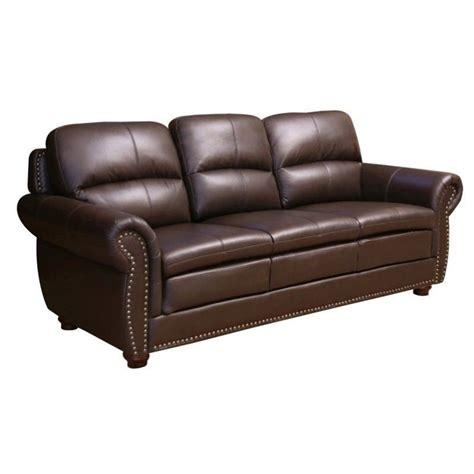 abbyson living leather sofa abbyson living harrison leather sofa in brown jc 2300 brn 3