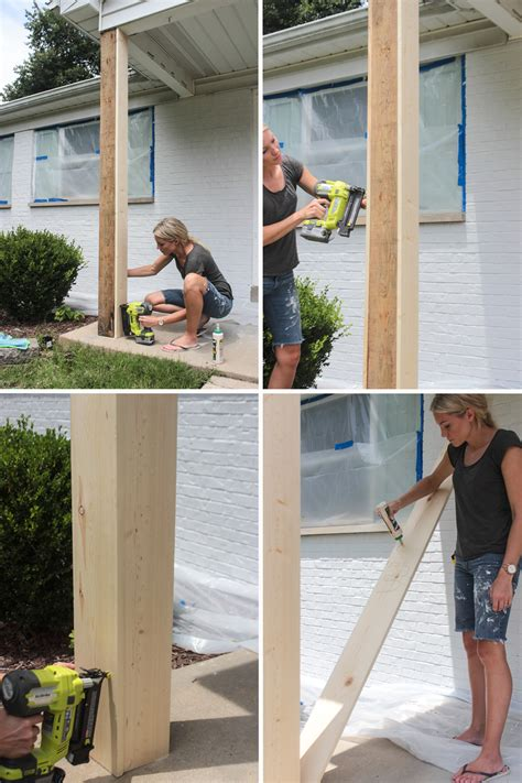 Build Porch by Diy Craftsman Style Porch Columns Shades Of Blue Interiors