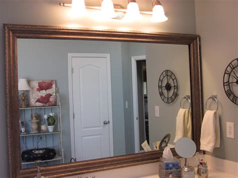 How Do You Frame A Bathroom Mirror by How To Frame Existing Bathroom Mirrors Lyn At Home
