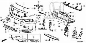 Oem 2017 Honda Civic Sedan Front Bumper  1  Parts