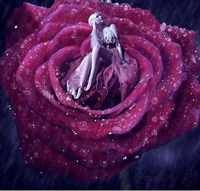 Animated Rain Flower Raining Rose Deviantart Moving