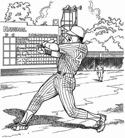 Coloring Baseball Pages Printable Run Fun Filminspector