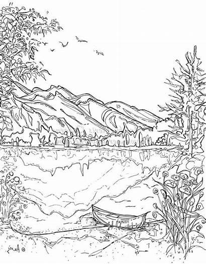Coloring Landscape Pages Nature