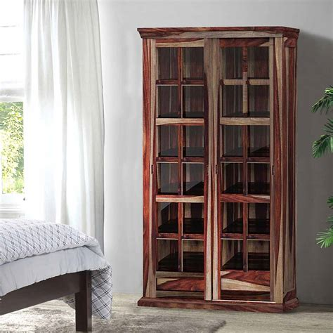 solid wood storage cabinets solid wood rustic glass door large storage cabinet