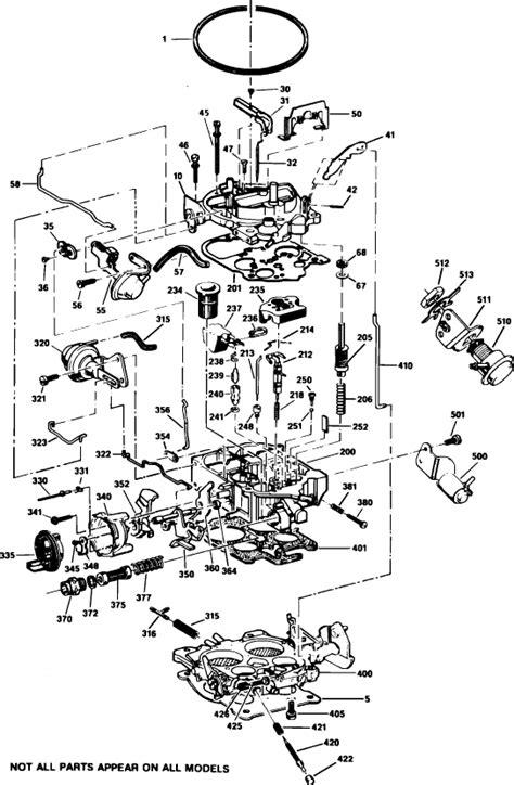Rochester Quadrajet Carburetor Vacuum Diagram