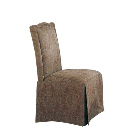 coaster slauson upholstered parson dining chair skirt in