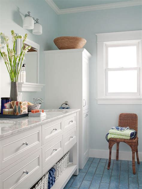 Color Schemes For Bathroom by Small Bathroom Color Ideas Better Homes Gardens