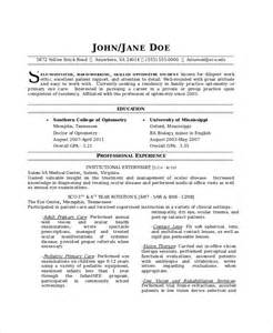 Optometrist Resume Objective by Optometrist Resume Template 7 Free Word Pdf Documents Free Premium Templates